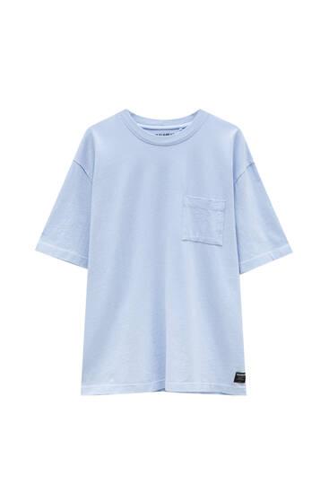 Basic-Oversize-Shirt aus Premium-Gewebe