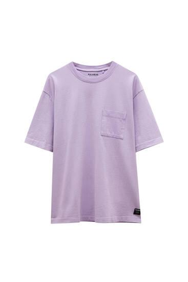 Μπλούζα basic oversize από ύφασμα premium