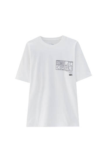 White oversize T-shirt with STWD print