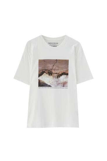 T-shirt La Création d'Adam de Michel-Ange
