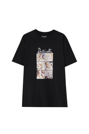 T-shirt noir Botticelli La naissance de Vénus