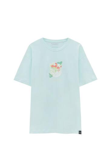Зелена футболка з мохіто - органічна бавовна (не менше 50%)