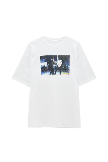 White Pulp Fiction T-shirt