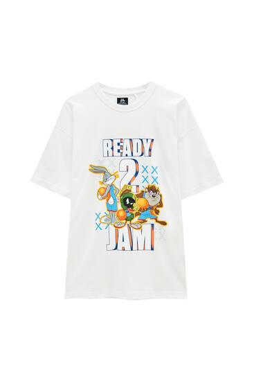 Біла футболка SpaceJam «Ready 2 Jam»