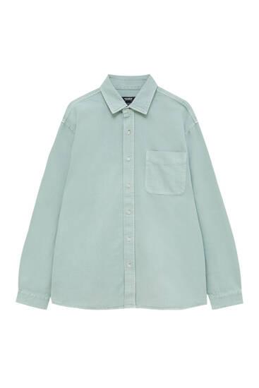 Relaxed fit denim shirt