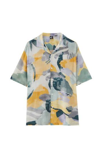 Watercolour print shirt - 100% ECOVERO™ viscose