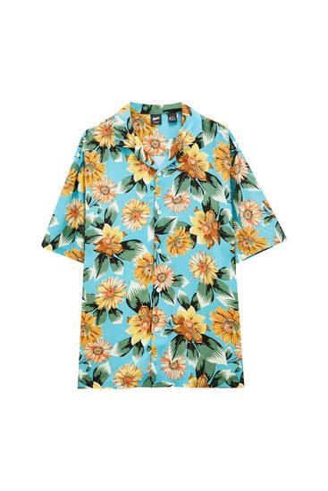 Skjorte med solsikkeprint