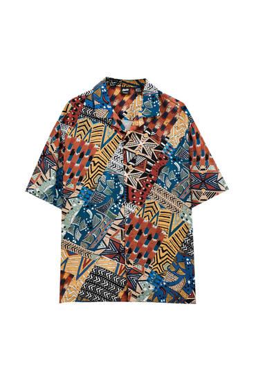 Košulja sa geometrijskim dezenom – 100% viskoza ECOVERO™