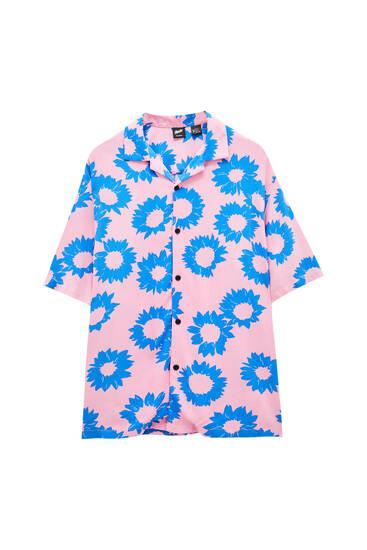 Floral viscose printed shirt - 100% ECOVERO™ viscose