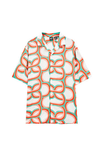 Shirt with '70s print