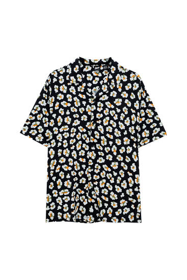 Fried egg print shirt
