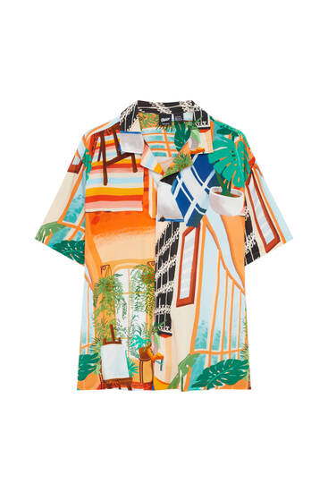 House print shirt