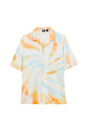 Orange tie-dye shirt