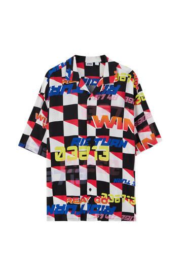 Racing print shirt