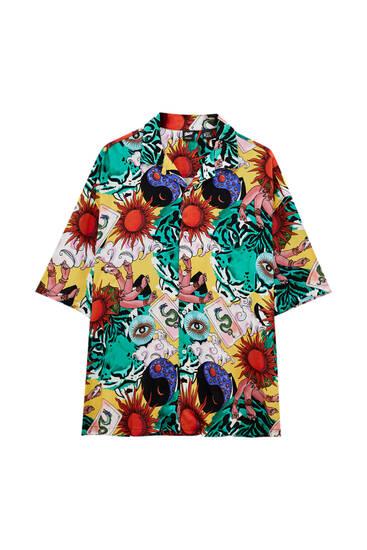 Sun print shirt