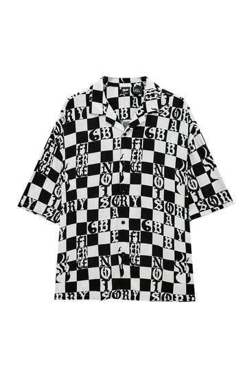 Yin Yang check shirt