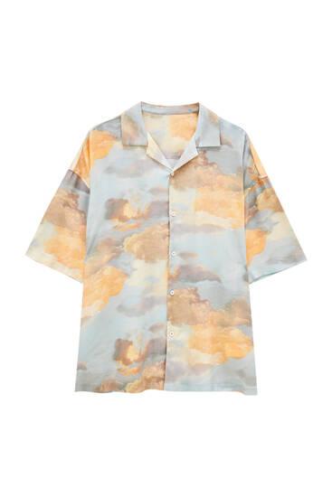 Sky print shirt