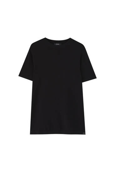 Coloured short sleeve sweater - ECOVEROTM viscose (at least 75%)