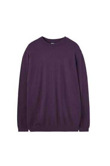 Basic high neck textured sweater