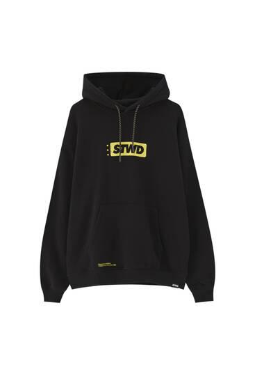 Black premium STWD skate hoodie