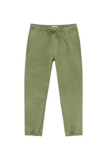 Basic drawstring joggers - ecologically grown cotton (at least 50%)