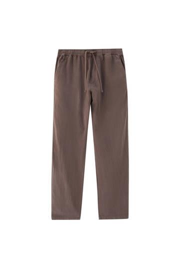 מכנסי טרנינג מפשתן