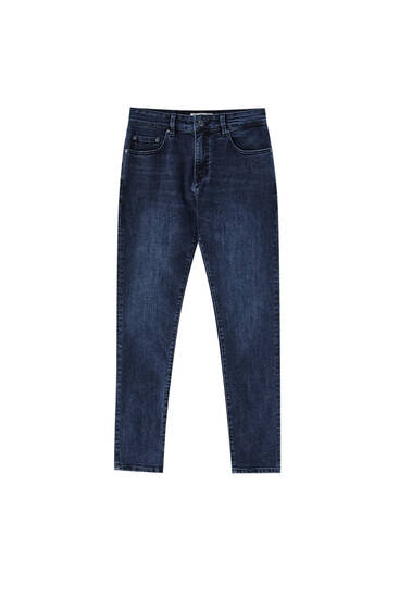 Dark blue skinny jeans - Contains recycled cotton
