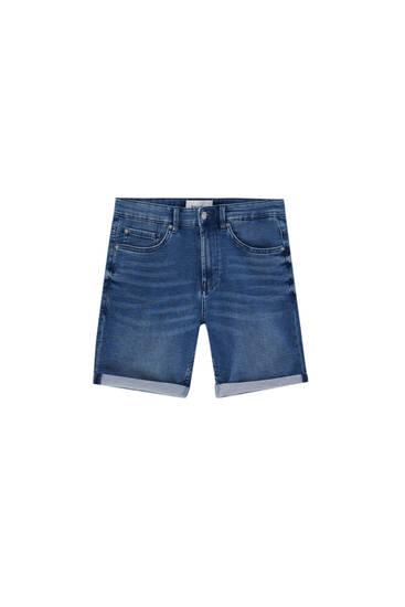 Bermudashorts aus weichem Jeansstoff - Biobaumwolle (mindestens 50%)