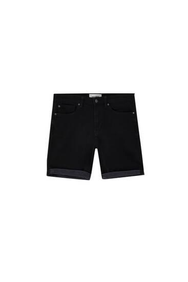 Soft denim Bermuda shorts - ecologically grown cotton (at least 50%)