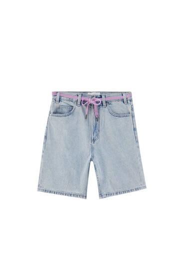 Dad fit denim Bermuda shorts