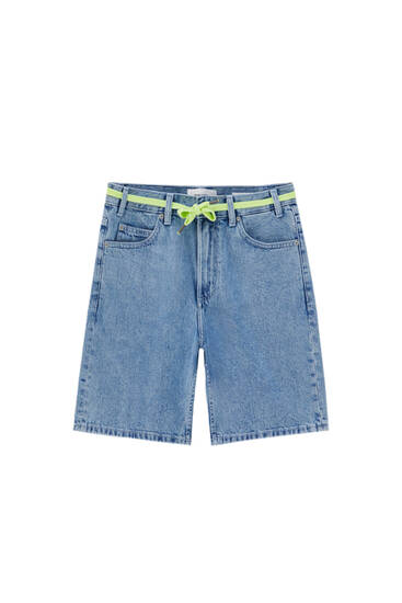 Jeans-Bermudashorts im Dad-Fit