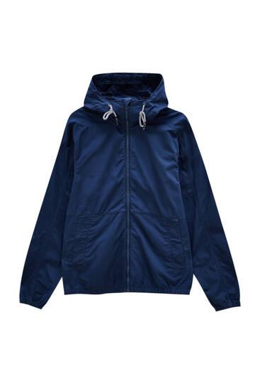 Basic twill jacket with hood