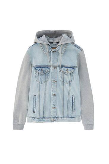 Basic contrast denim jacket