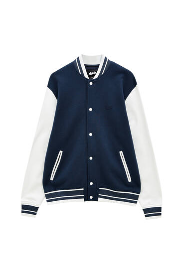 Varsity jacket with contrast sleeves