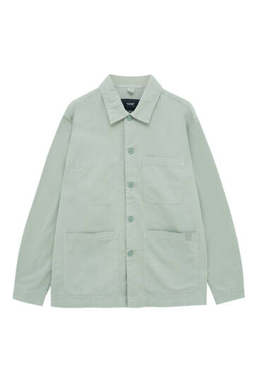 Lightweight twill overshirt