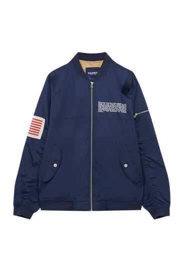 Легка куртка-бомбер NASA з нашивкою