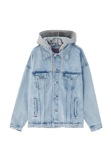 Veste en jean combinée oversize
