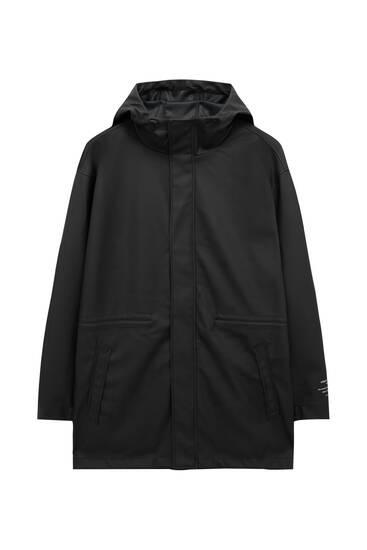 Basic-Regenjacke mit Kapuze