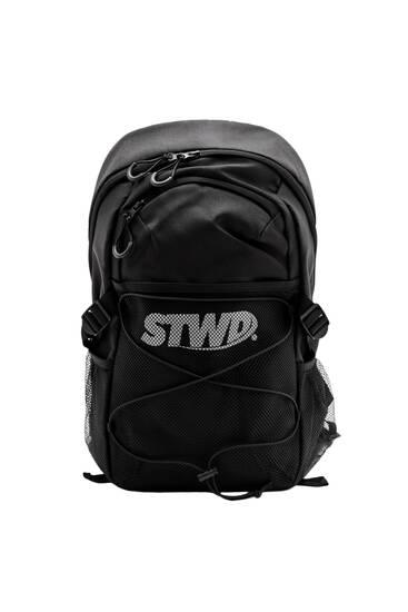 Black mesh STWD backpack