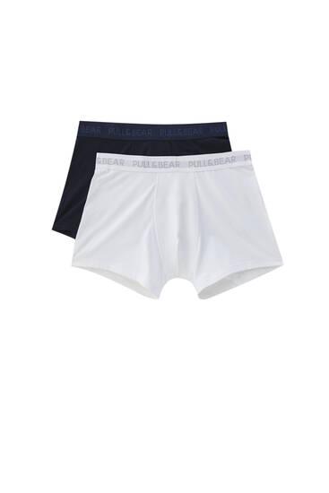 Lot de 2 boxers basiques unis
