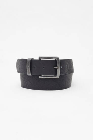 Textured faux leather belt