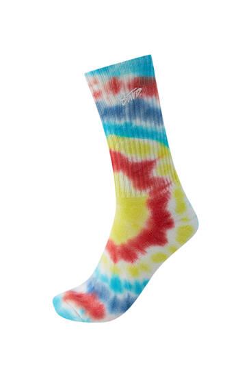Πολύχρωμες κάλτσες tie-dye