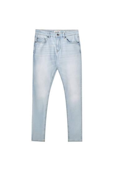 Bleached super skinny jeans