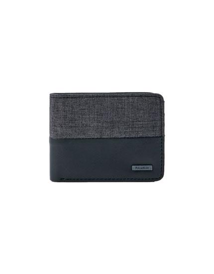Portefeuille panneau gris noir
