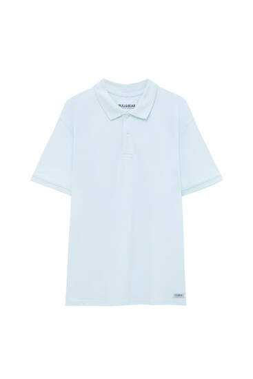 Basic short sleeve piqué polo shirt