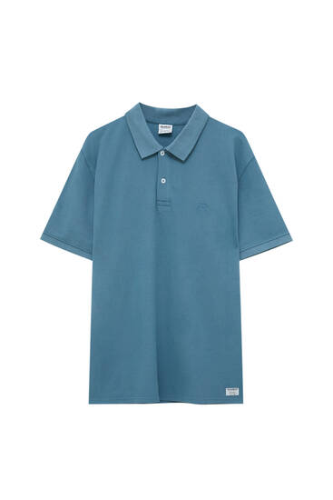 Basic garment-dyed polo shirt