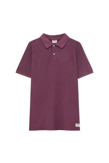 Basic-Poloshirt im Stück gefärbt