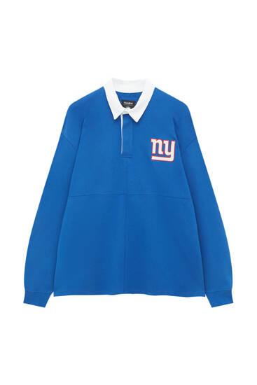 Blaues Poloshirt NFL Giants