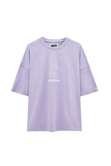 Camiseta violeta ilustración Naruto