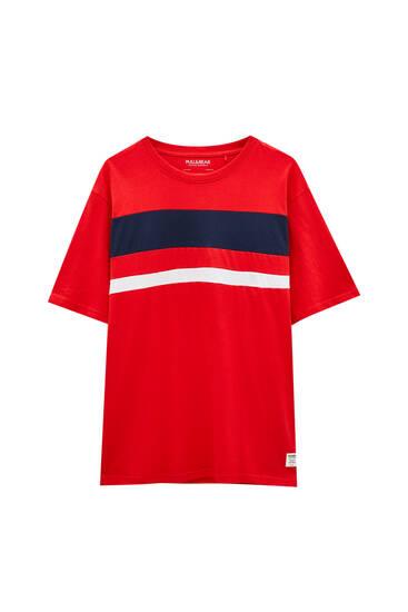 Double-layer colour block T-shirt